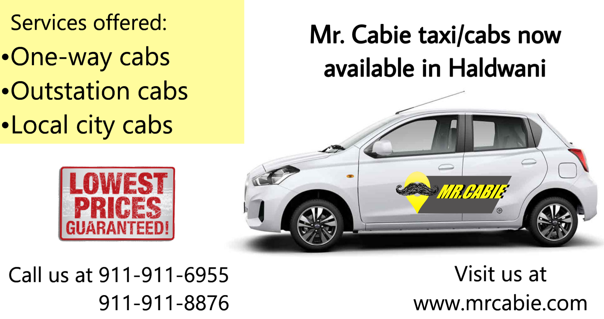 Mr. cabie taxi service in Haldwani
